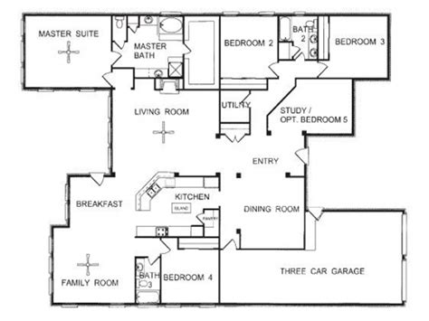 One Level House Plans by 3 Story Townhome Floor Plans One Story Open Floor House