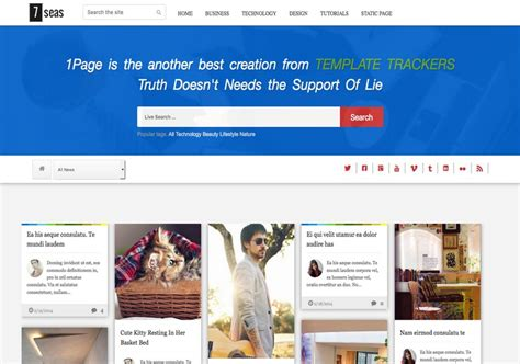 blog themes with ad space 7seas blog responsive blogger template free graphics