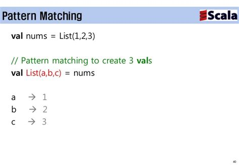 pattern matching scala list scala overview