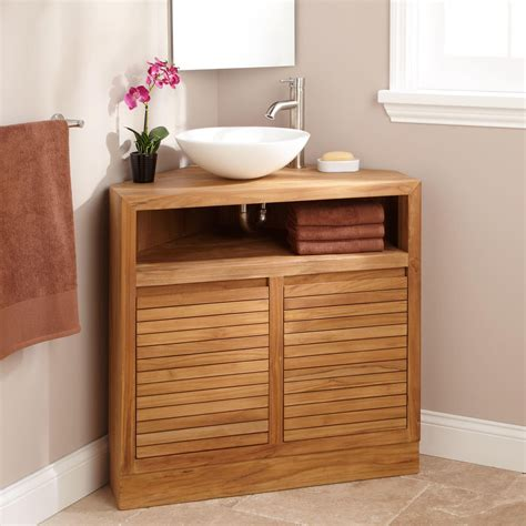Small Bathroom Design Photos by 34 Quot Cuyama Teak Corner Vanity Bathroom