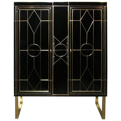 Marks And Spencer Kitchen Furniture Italian Art Deco Style Black Glass Cabinet Bar With Bronze