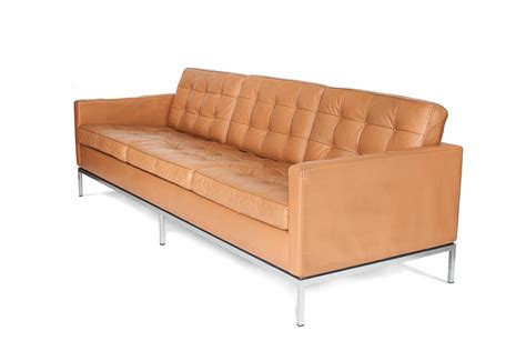 Knoll Leather Sofa by Mid Century 3 Seater Leather Sofa By Florence Knoll