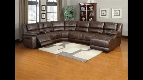 Leather Sectionals With Recliners And Chaise by 6 Pc Miller Saddle Brown Bonded Leather Sectional Sofa