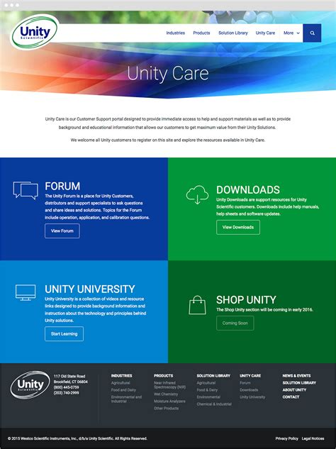 unity responsive layout unity scientific responsive expressionengine website
