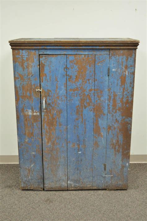 Antique Jelly Cabinet by Antique Blue Distress Painted Pennsylvania Primitive Jelly
