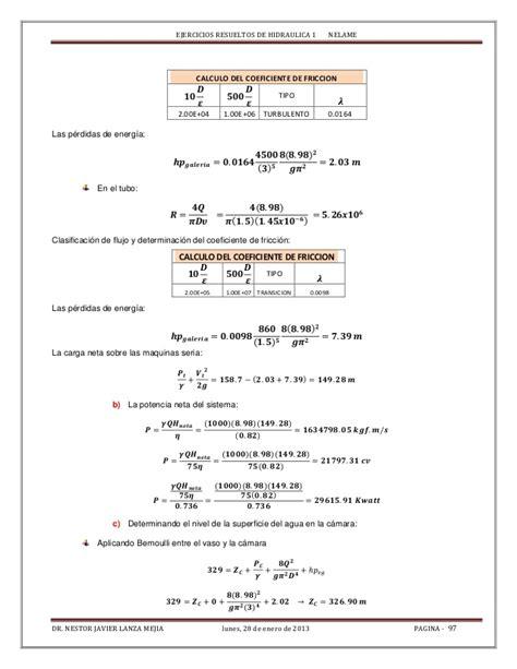 camara de oscilacion hidraulica texto de ejerciciosresueltos de hidraulica 1 nelame