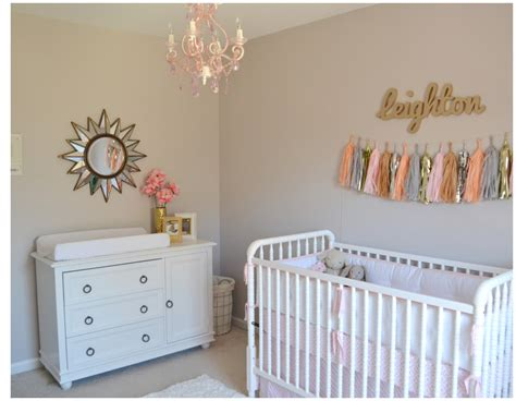 Gold Nursery Decor Leighton Kate S Pink And Gold Nursery Project Nursery