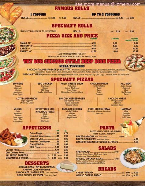 garden pizza menu