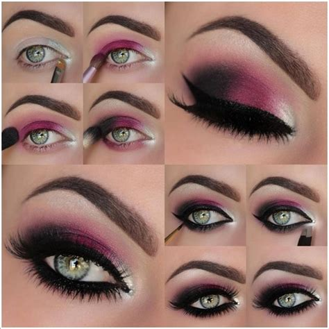 tutorial makeup eyeshadow pink how to diy stunning hot pink smokey eye makeup tutorials