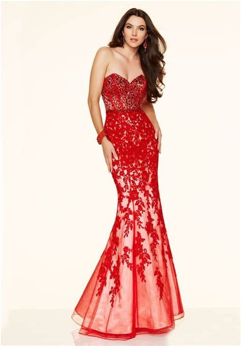 mermaid strapless sweetheart low back lace applique