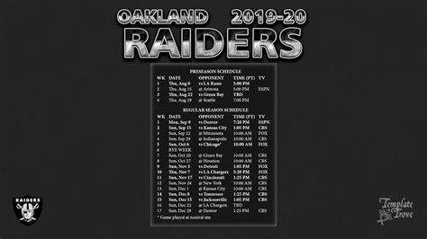oakland raiders wallpaper schedule