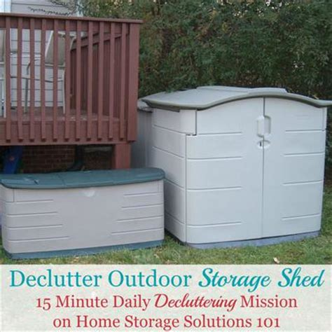 home storage solutions 101 how to declutter outdoor storage shed