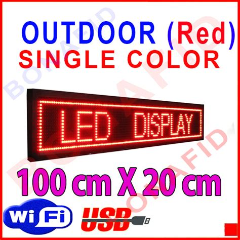 Running Text 100x40cm Merah Outdoor jual jual led running text outdoor merah 100 cm x 20 cm