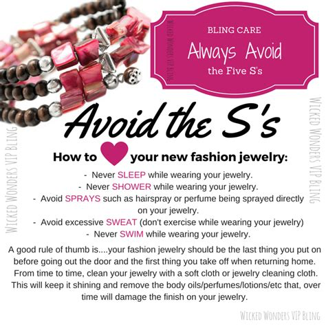 how to care for a bling care how to care for your new fashion jewelry
