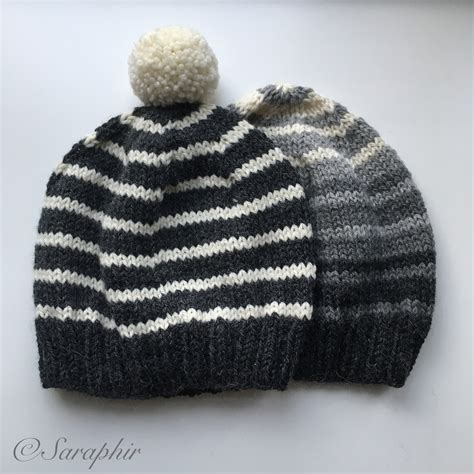 Pattern Knitting Beanie | adult bentie beanie a free knitting pattern for a simple