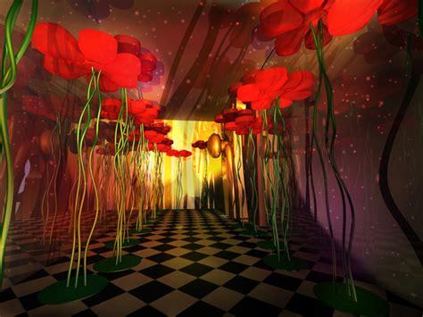 scenic design alice in wonderland party by gabriela r