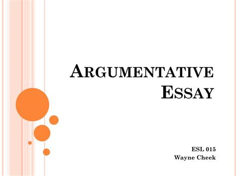 Writing An Argumentative Essay Powerpoint by Ppt Argumentative Essay Powerpoint Presentation Id 1836037