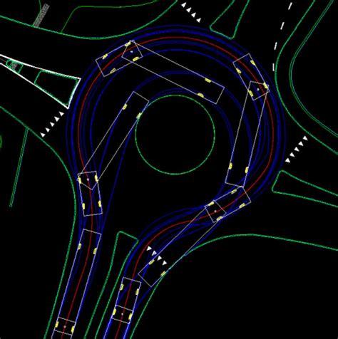 Cadtools Vehicle Turning Free Autocad Roundabout Templates