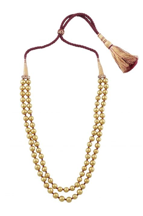 gold plated bead necklace silver gold plated two layer bead necklace