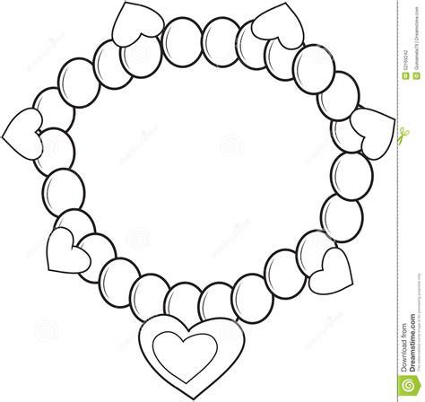 Bracelet Coloring Page Stock Illustration Image Of Detail