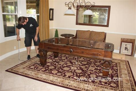 Pool Table Area Rugs by Pool Table On Area Rug Dk Billiards Pool Table Moving