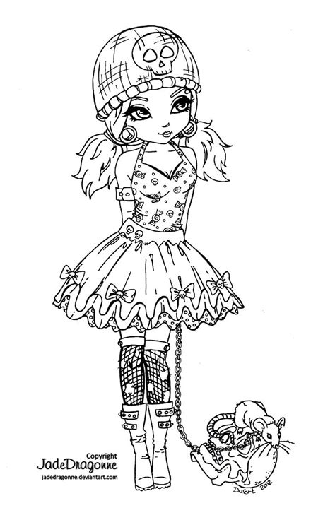 deviantart coloring pages gothic lolita lineart by jadedragonne on deviantart