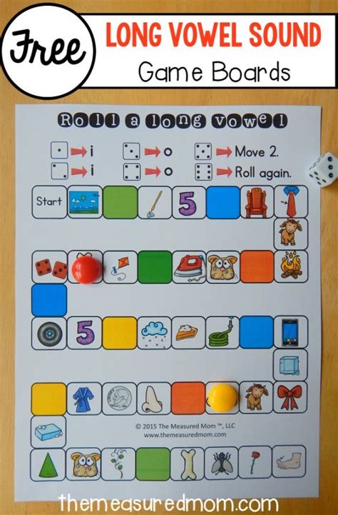 printable vowel games for kindergarten 26 free games to teach long vowel sounds the measured mom