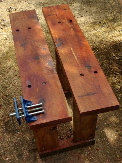 art work bench outdoor workbench part 4 wood movement toolmaking art outdoor work bench treenovation