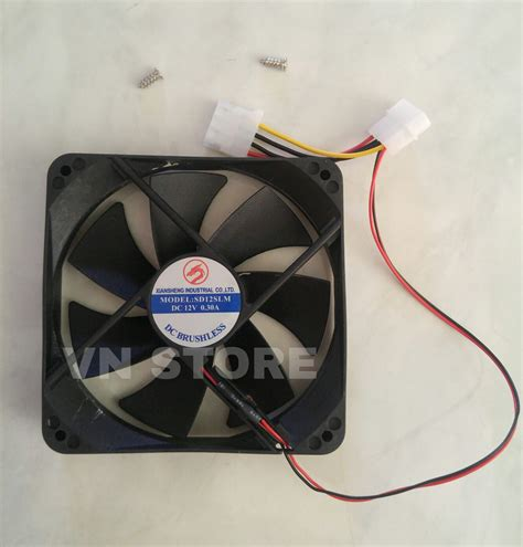 Kipas Fan Cpu jual fan casing 12cm hitam fan 12 cm kipas cpu