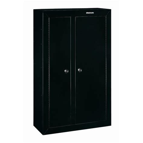 gun security cabinet reviews stack on 10 gun black double door security cabinet gcdb