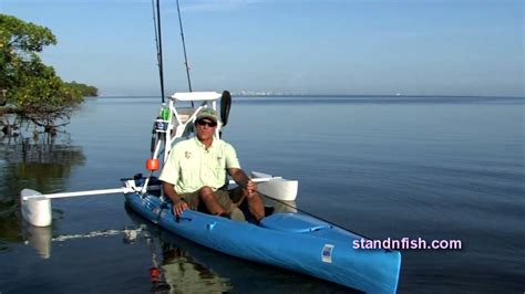 canoe pontoons stand n fish stand and fish intro kayak pontoon syste