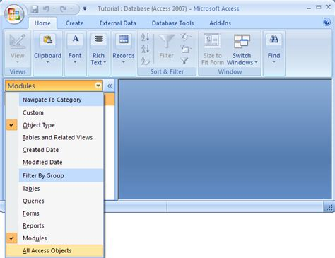 tutorial php reports ms access 2007 report introduction