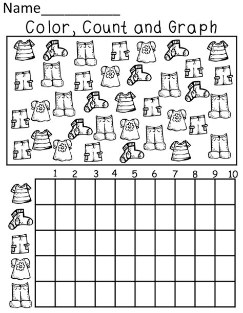 printable picture graphs kindergarten color count and graph kinderland collaborative