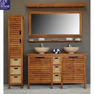 meuble en teck pour salle de bain ensemble pacific bain