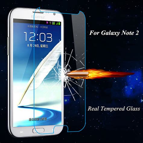 Spectre Tempered Glass Samsung Galaxy Note 2 Screen Protector 25d premium tempered glass for samsung galaxy note 2 note2 n7100 screen protector toughened