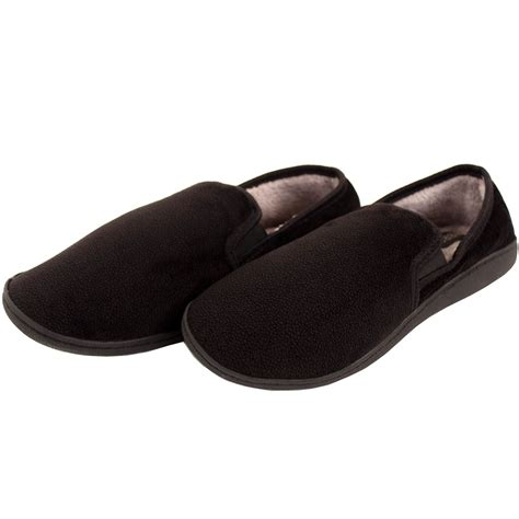 fleece slippers mens slippers house shoes faux fur lined slip on fleece