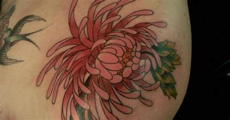 kim wells tattooer japanese spider mum shoulder piece