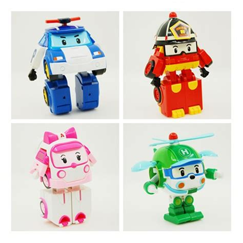 Figur Robocar Poli Transform 1 quot robocar poli quot transforming toys 4 pcs 1 set korean