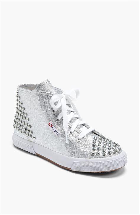 superga sneakers silver superga lam 233 studs sneaker in silver lyst