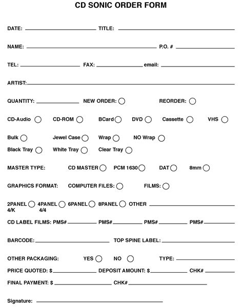 Cd Sonic Forms Templates Audio Cd Duplication Audio News Release Template