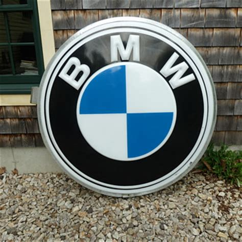 bmw dealership sign tell vintage automobile signs collectors weekly