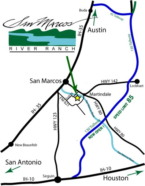 map san marcos texas directions to san marcos river ranch