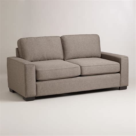 arm couch pewter gray aylin square arm sofa world market