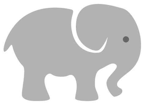 Clipart Baby Elephant light grey baby elephant clip at clker vector
