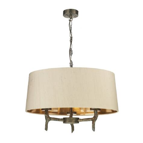 Driftwood Pendant Light Drum Shaped Ceiling Pendant Light With Bronze Driftwood Metal Frame