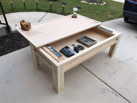 coffee table   sliding top