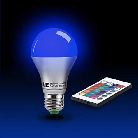Led Le by Le 5w Dimmable A60 Rgb Led Bulbs Color Changing 160 176 Beam Angle 16 Color Choice Medium