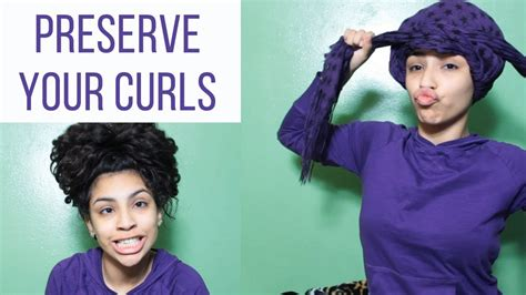 healthy ways on wearing your hair to sleep to avoid how to sleep with curly hair youtube