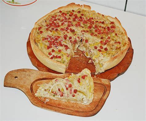 zwiebel lauch kuchen deftiger zwiebel lauch kuchen rezept mit bild