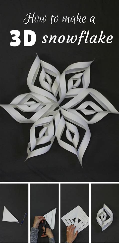 by steps how to make a 3d snowflake how to make a 3d snowflake 3d snowflakes and step guide